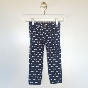 GAP KATE SPADE Jeans with bow print size 3